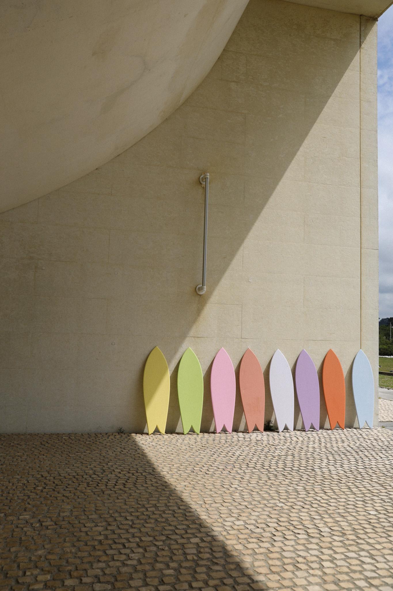 planche de surf de décoration coloree